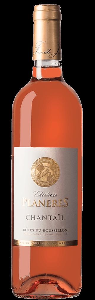 Chateau Planeres Chantail rosé AOC Côtes du Roussillon Flasche