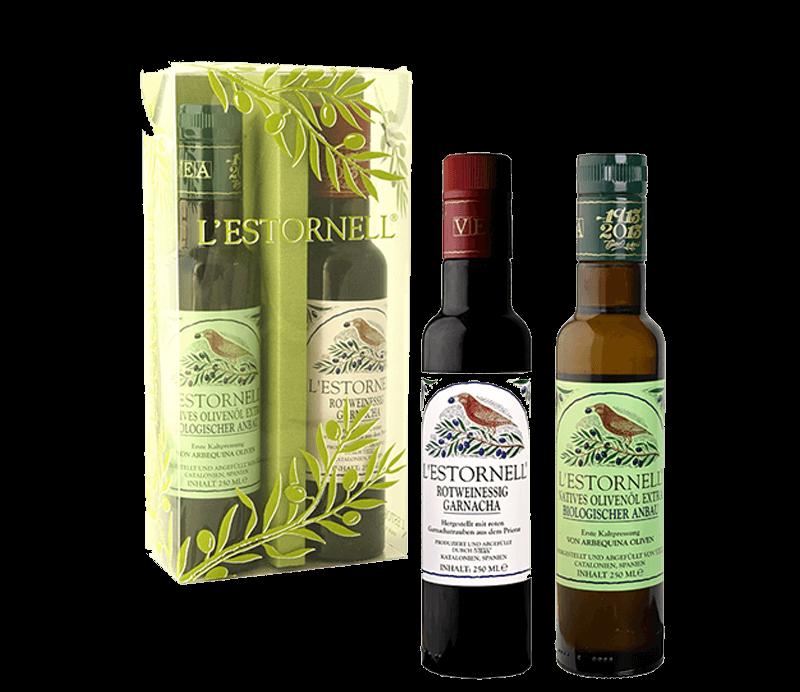 Olivenöl & Rotweinessig Geschenkset