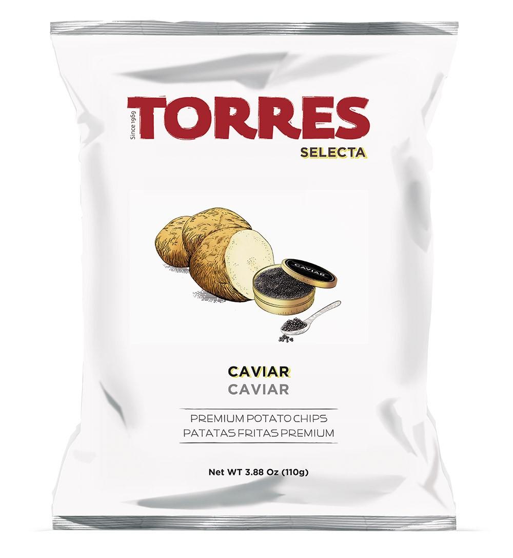 Kartoffelchips mit Kaviar