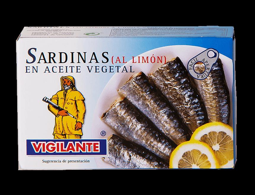 Sardinen in Pflanzenöl und Limonen