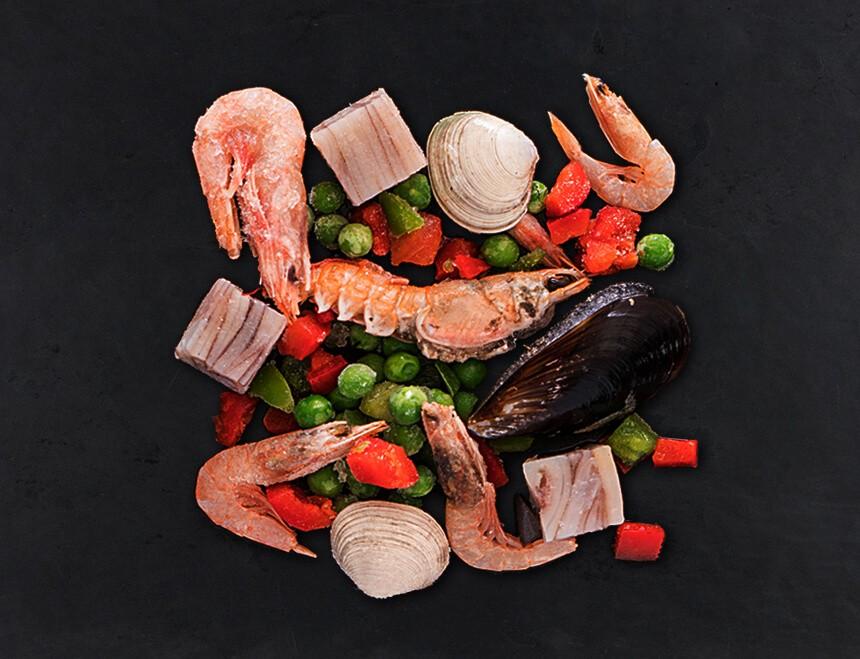 Paella Meeresfrüchte Mix Frisch