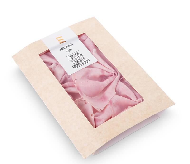 Gekochter Duroc Schinken in Scheiben Verpackung Mitjans