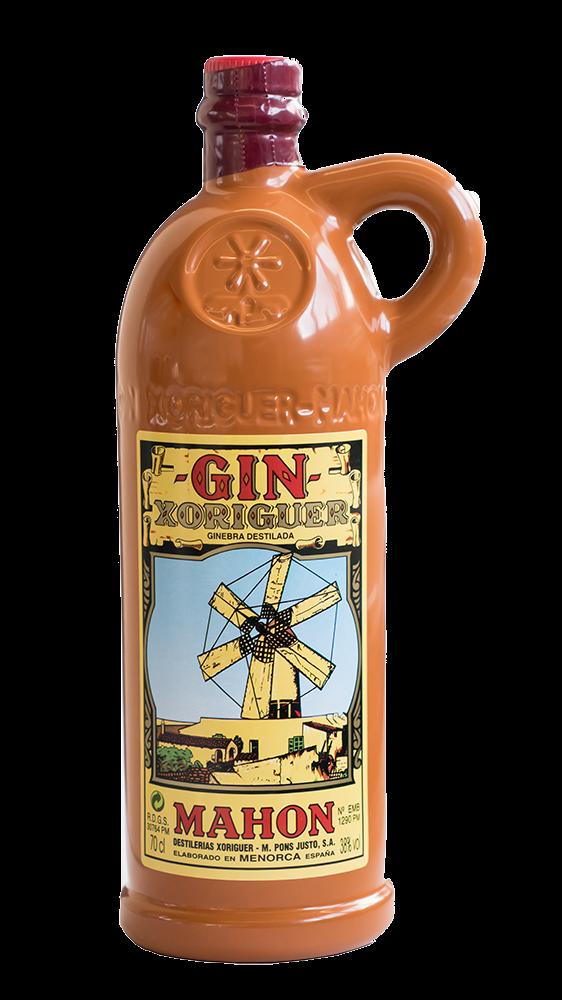 Gin Xoriguer in Tonflasche Nachbildung
