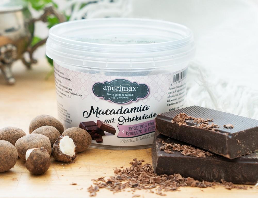 Macadamianüsse in Schokoladenmantel 140g