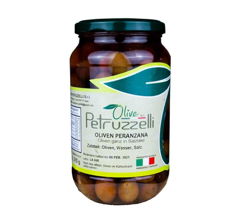 Peranzana Oliven aus Italien Glas