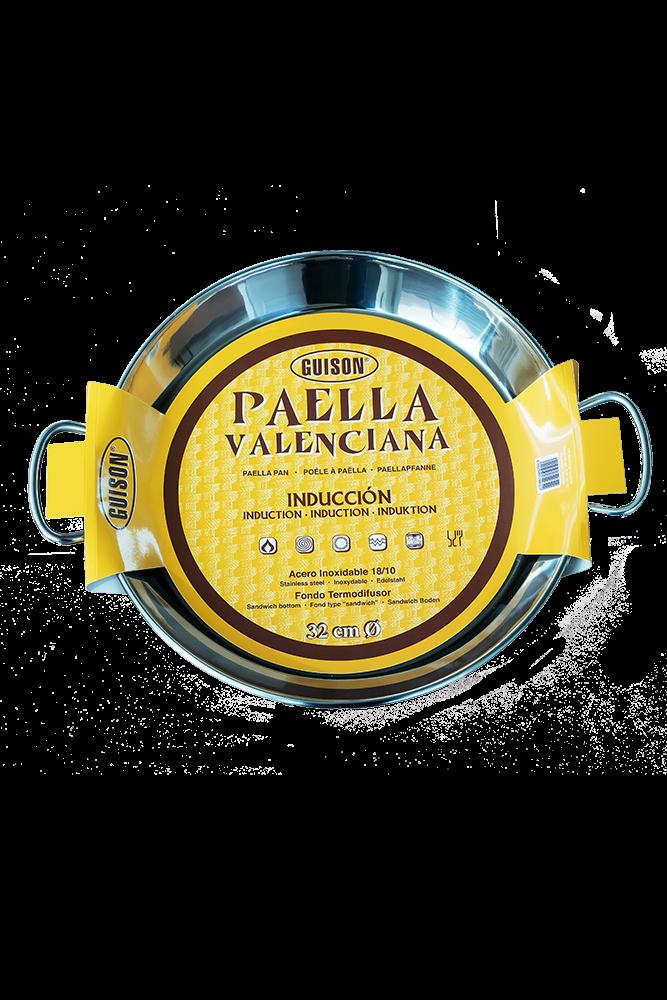 Paellera Edelstahl 4 Pers. 32 cm für Induktionsherd