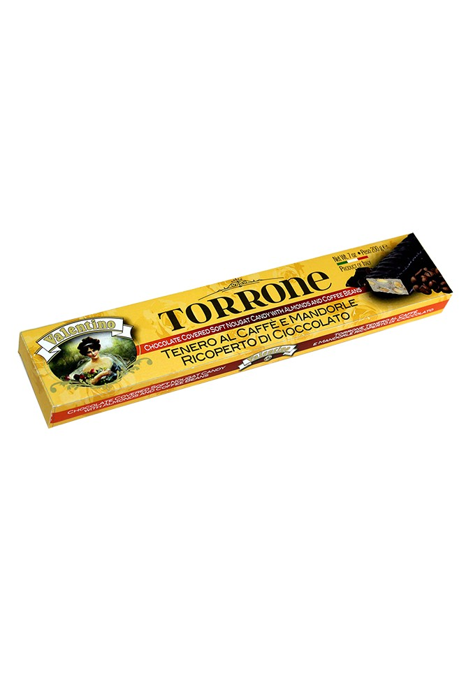 Torrone mit Mandeln, Kaffee & Schokolade