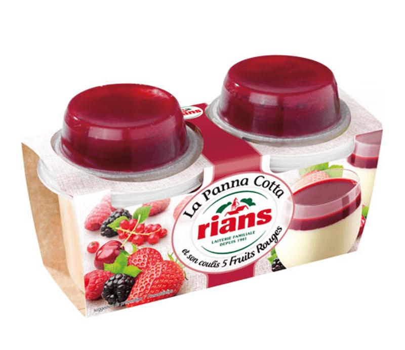 Panna Cotta mit roten Früchten