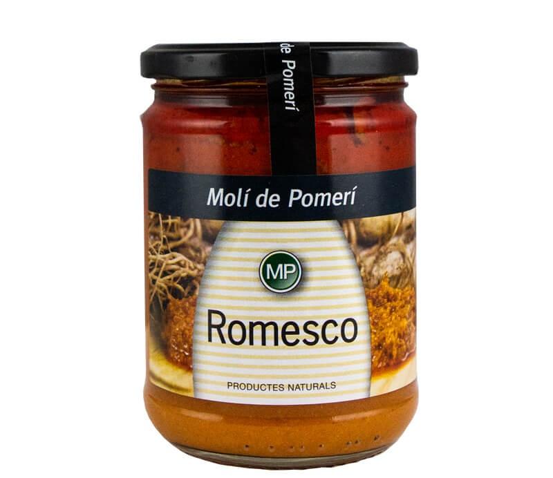 Salsa Romesco Soße Glas