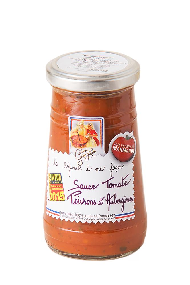 Tomaten Sauce mit Paprika und Auberginen