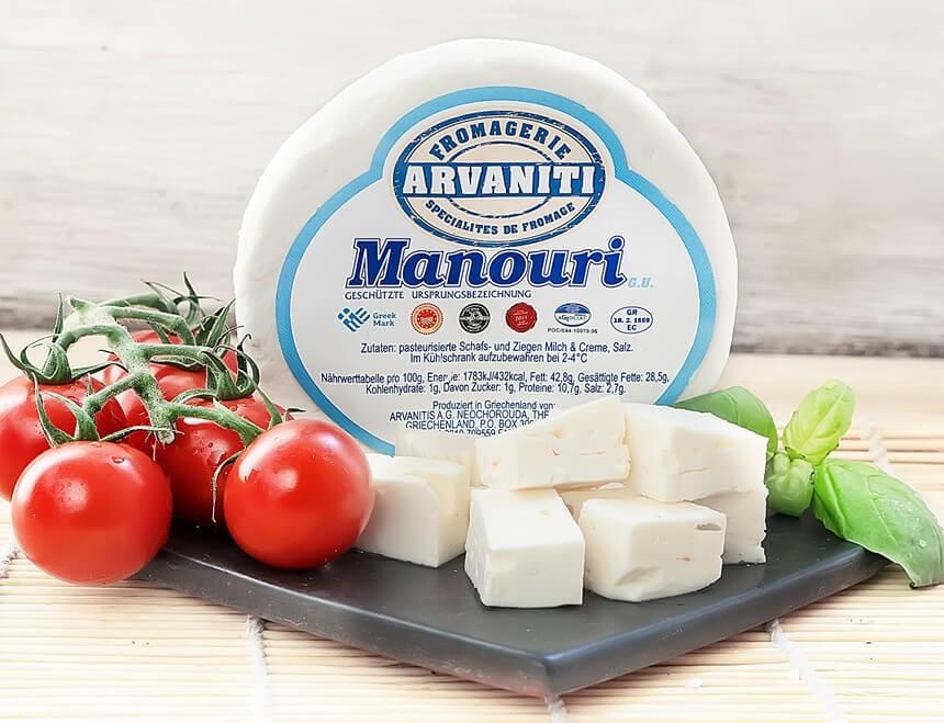 Arvaniti Manouri Frischkäse 170g Verpackung