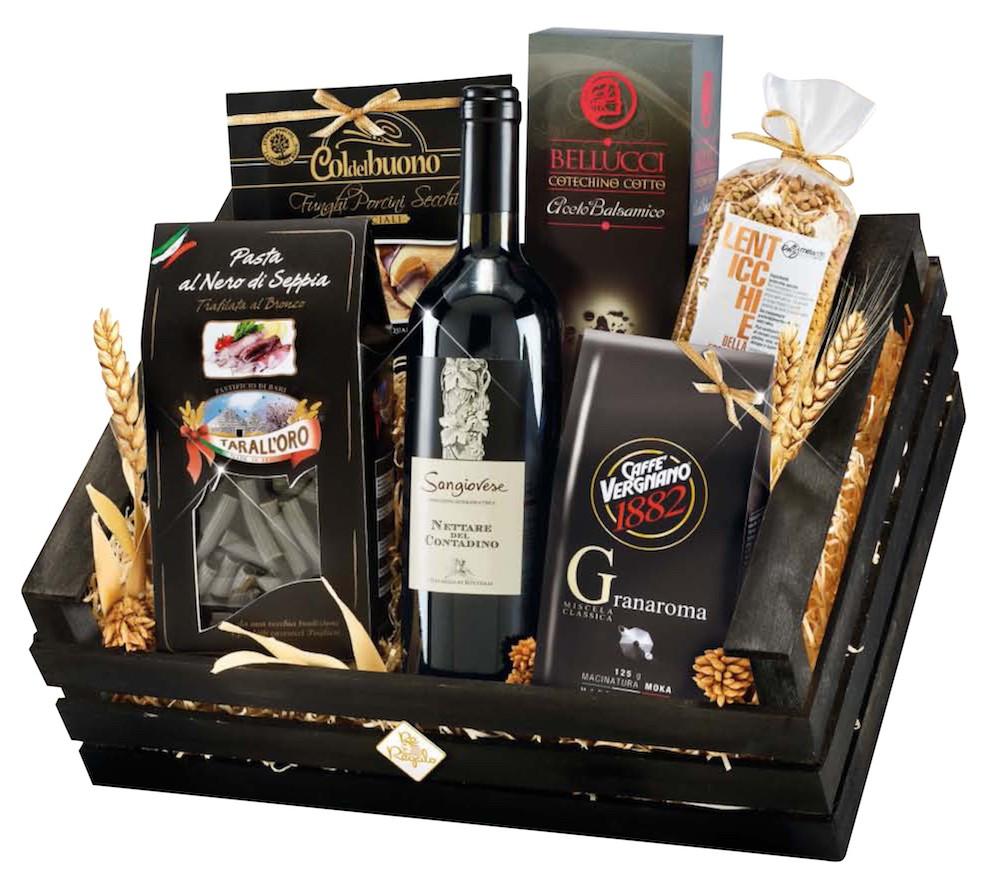 """Italienisches Premium Geschenkset """"Imperiale"""" Geschenkkorb aus Italien mit 7 Artikel"""