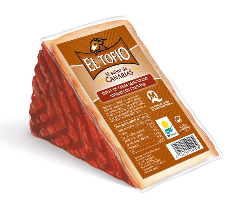 El Tofio - Halbgereifter kanarischer Paprika-Ziegenkäse
