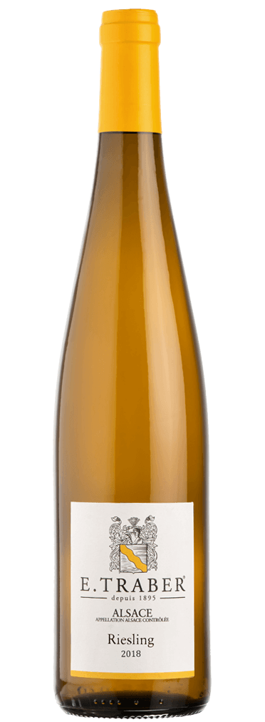 E. Traber Riesling Flasche