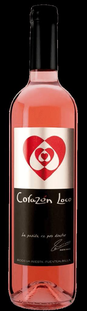 Corazón Loco Rosado Flasche
