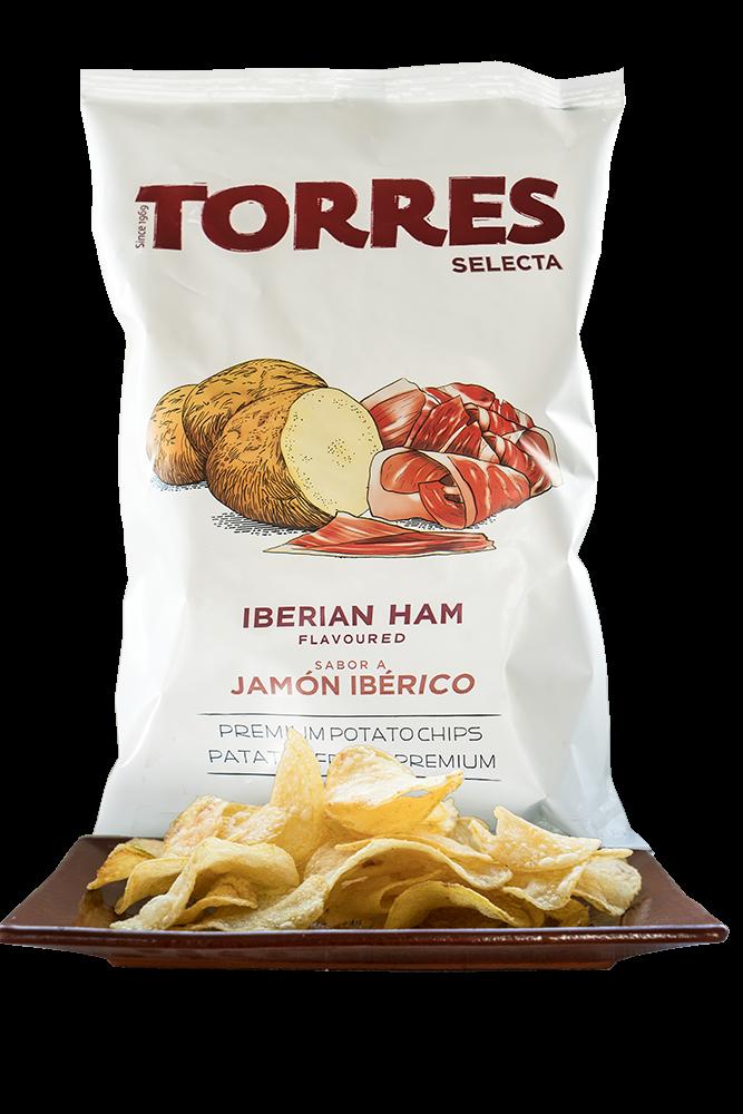 Kartoffelchips iberischer Schinken