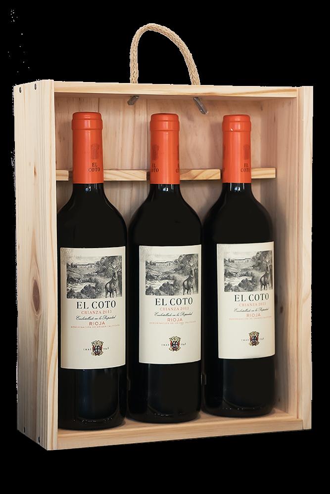 El Coto Geschenkset (3 Flaschen Crianza) 3 x 0,75L