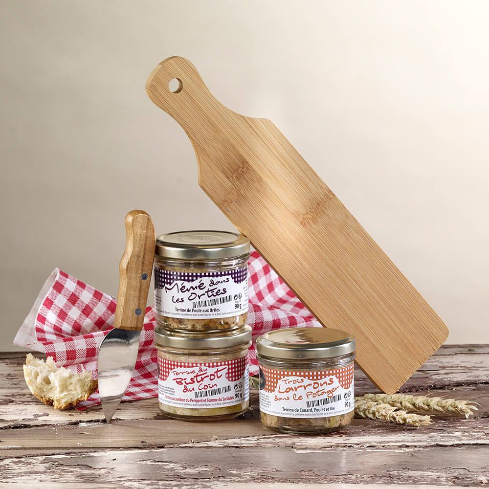 Französisches Terrinen Geschenkset mit Brett und Messer