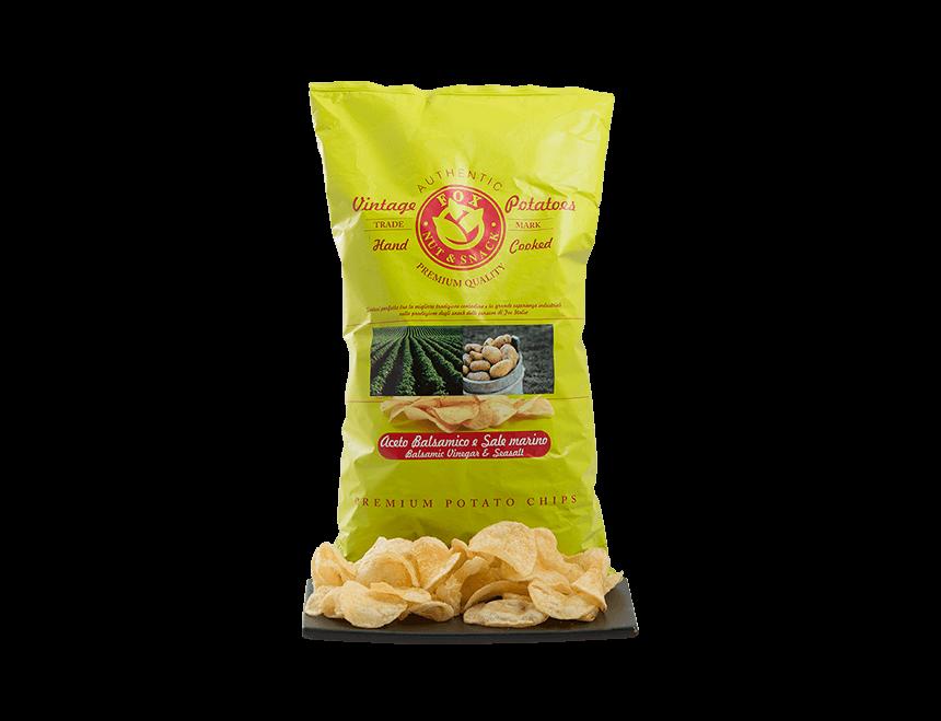 Vintage Kartoffelchips mit Balsamico