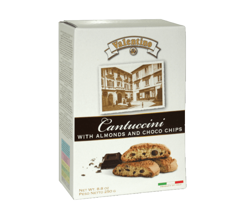 Cantuccini mit Mandeln & Schokolade