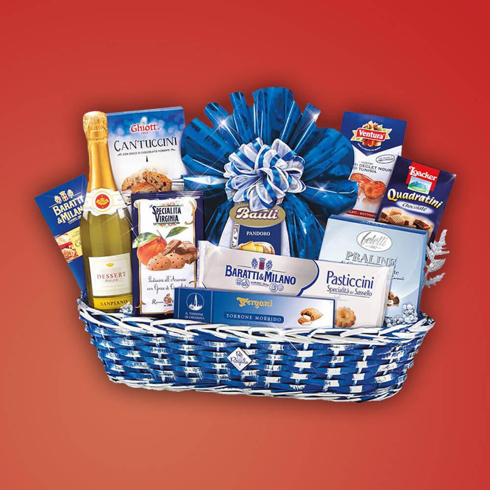 """Italienisches Premium Geschenkset """"Guelfo"""" Weihnachts Geschenkkorb Italienische Speisen und Wein"""