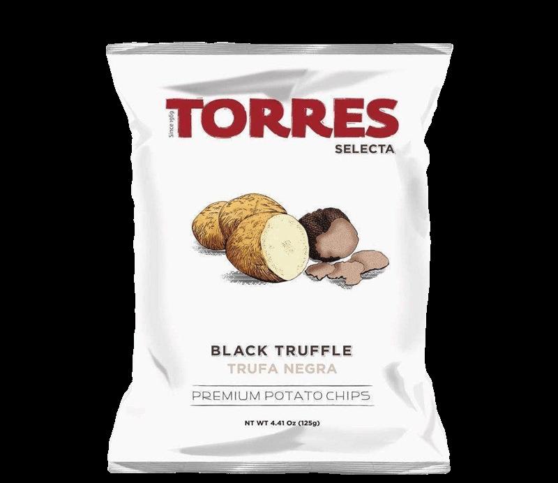 Kartoffelchips mit schwarzen Trüffeln Verpackung