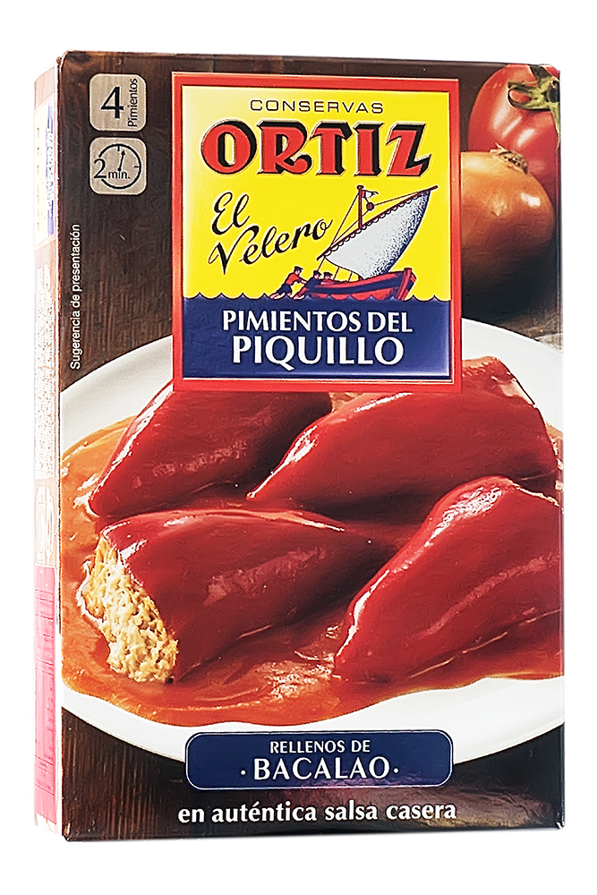 Paprikaschoten gefüllt mit Bonito