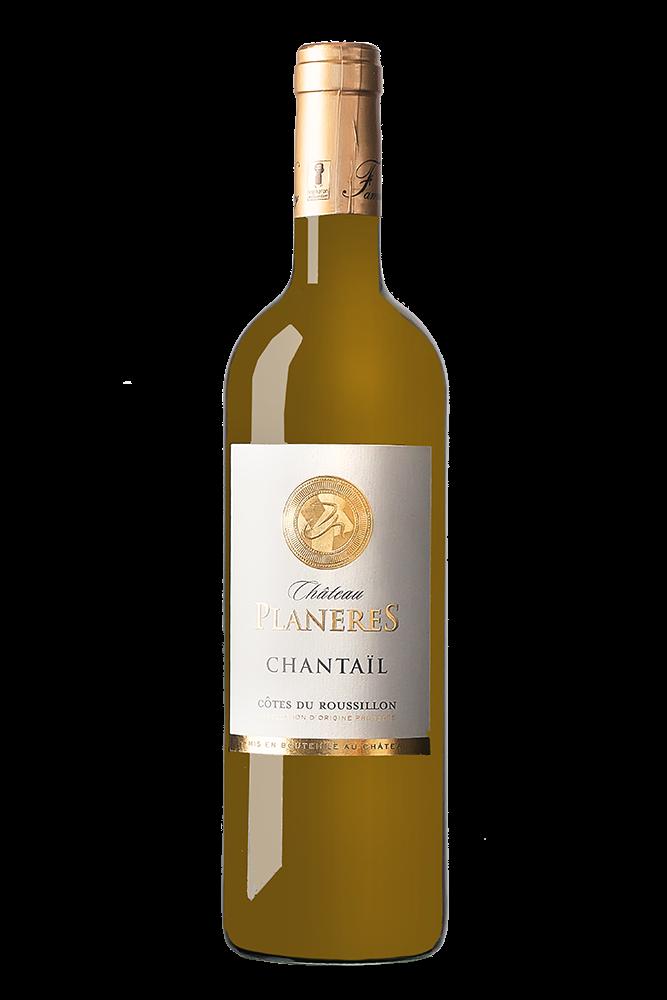 Chateau Planeres Chantail weiß AOC Côtes du Roussillon Flasche
