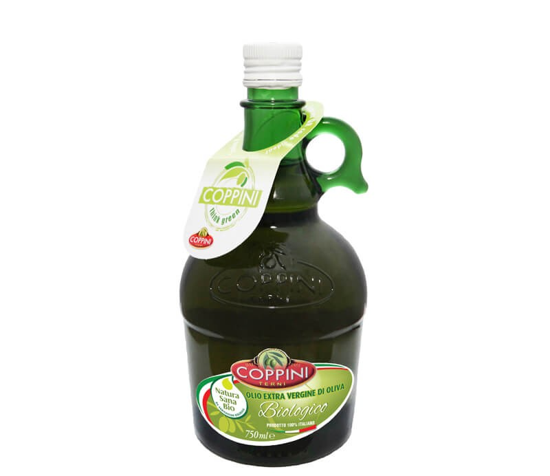 Coppini Olivenöl Extra Vergine Natura Sana Biologico Verpackung