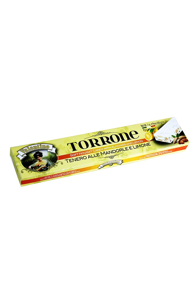 Torrone mit Mandeln & Zitrone