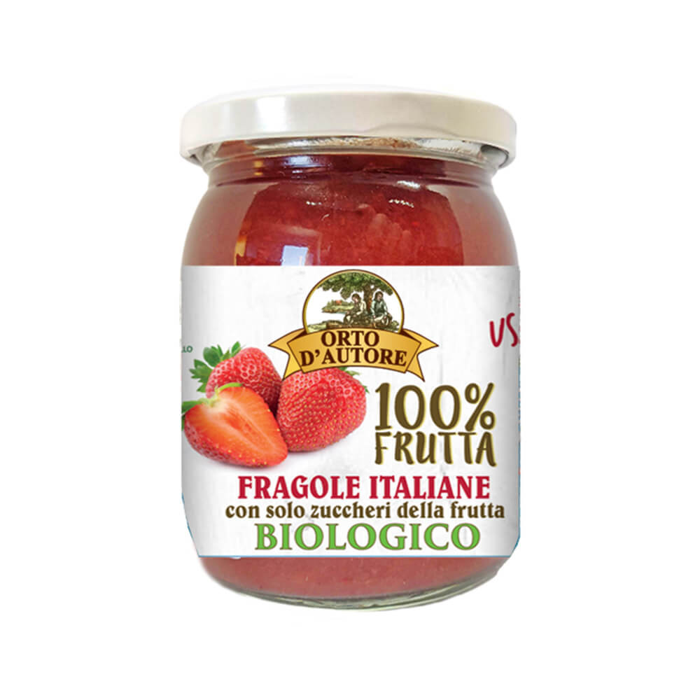 Kompott aus Bio Erdbeeren