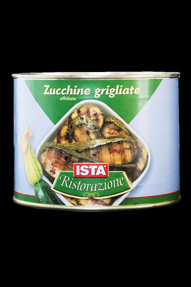 Zucchini gegrillt in Sonnenblumenöl mit Kräuter