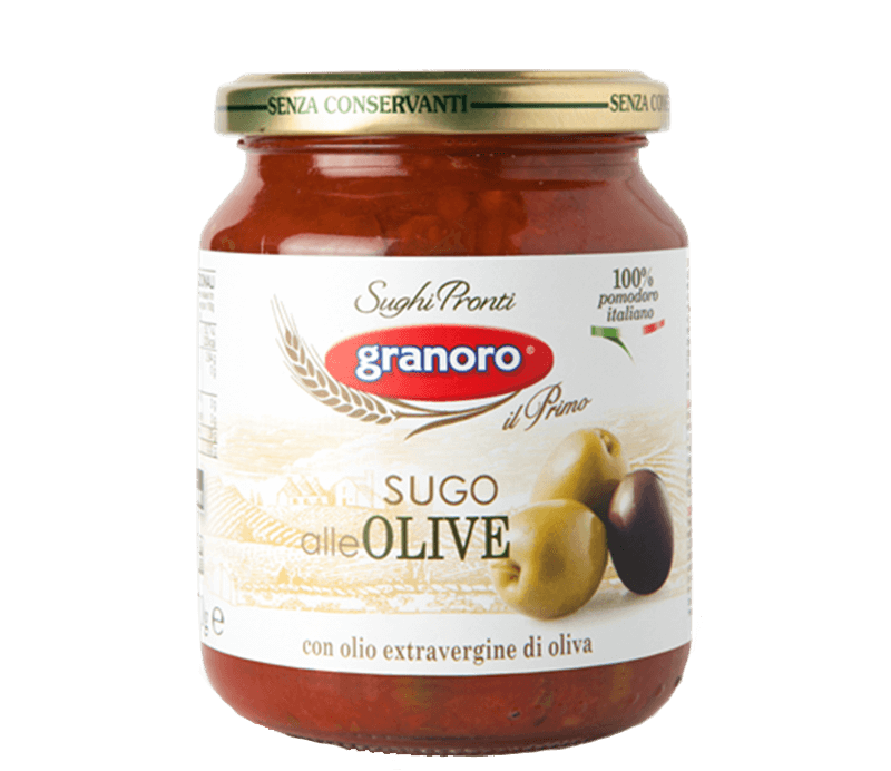 Sugo alle Olive Tomatensauce mit Oliven Verpackung