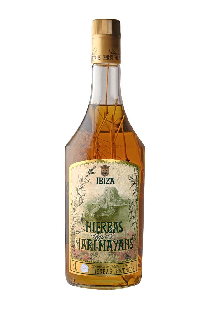 Hierbas Ibicencas mit Strauch