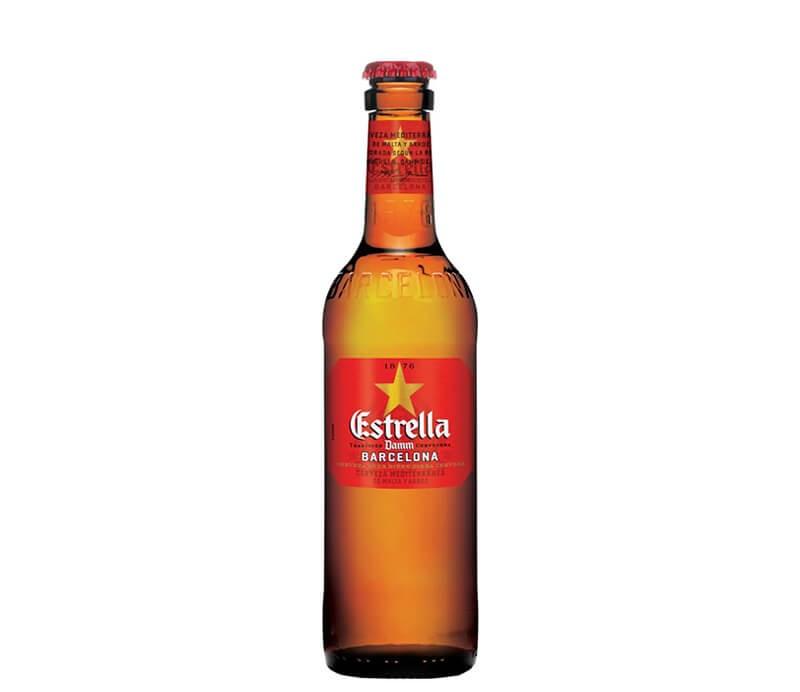 Estrella Damm Bier aus Barcelona Flasche