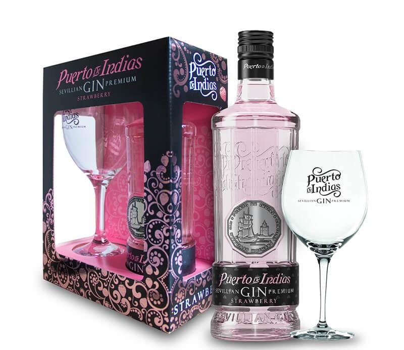 Puerto De Indias Sevillian Premium Strawberry Gin Geschenkbox