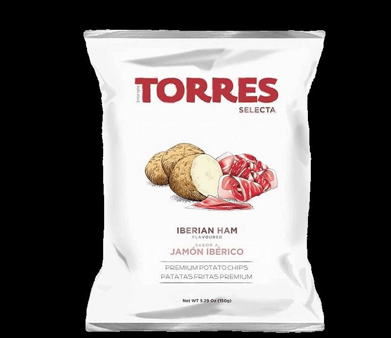Kartoffelchips iberischer Schinken Verpackung