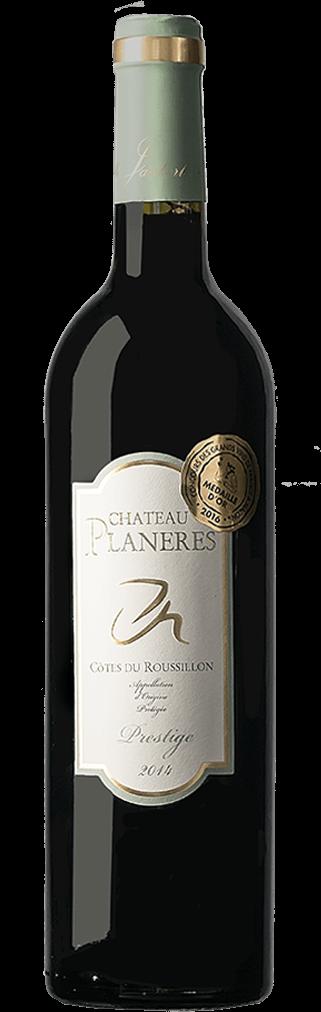 Chateau Planeres Prestige Selection Côtes du Roussillon Flasche