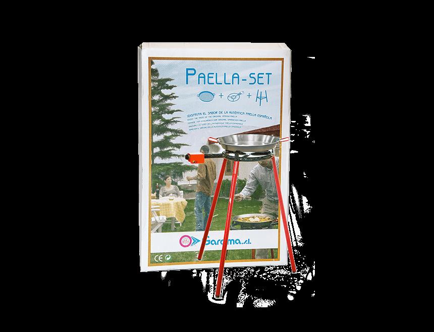 Paella Set (Pfanne 36 cm, Gestell und Gasbrenner 300)