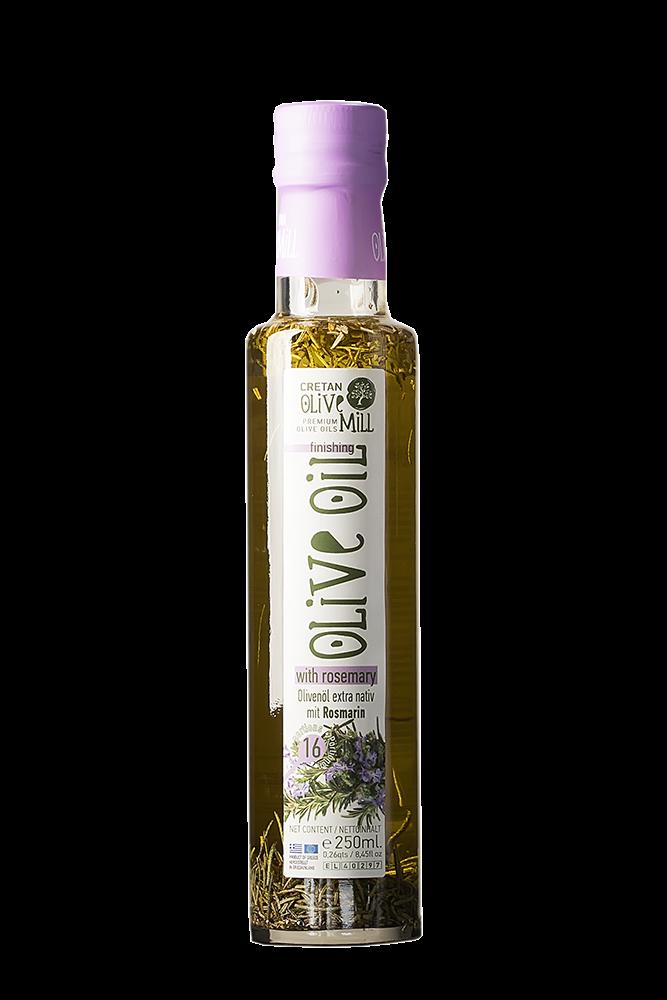 Natives Olivenöl extra aus Kreta mit Rosmarin
