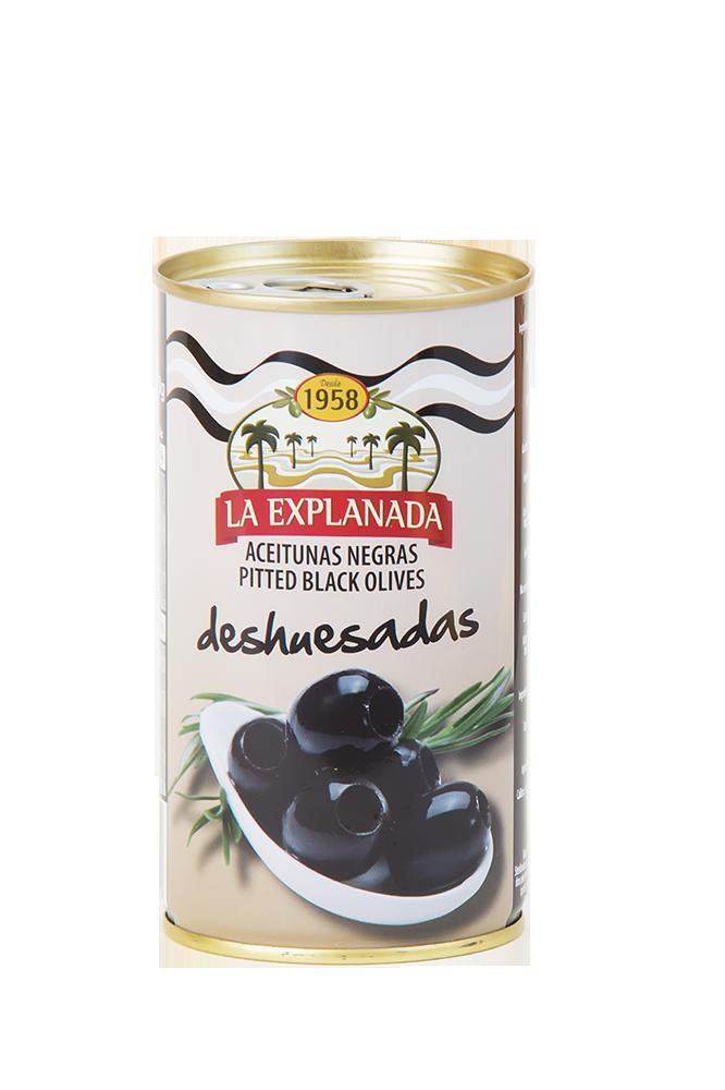 Schwarze Oliven ohne Stein