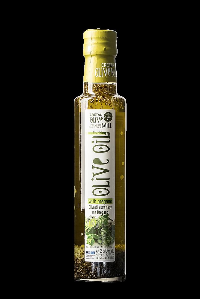 Natives Olivenöl extra aus Kreta mit Oregano 250 ml