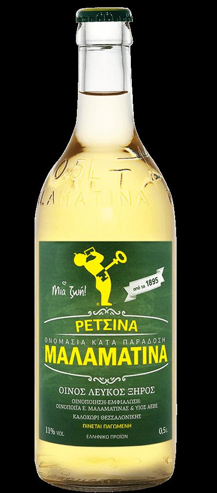 Malamatina Retsina Flasche