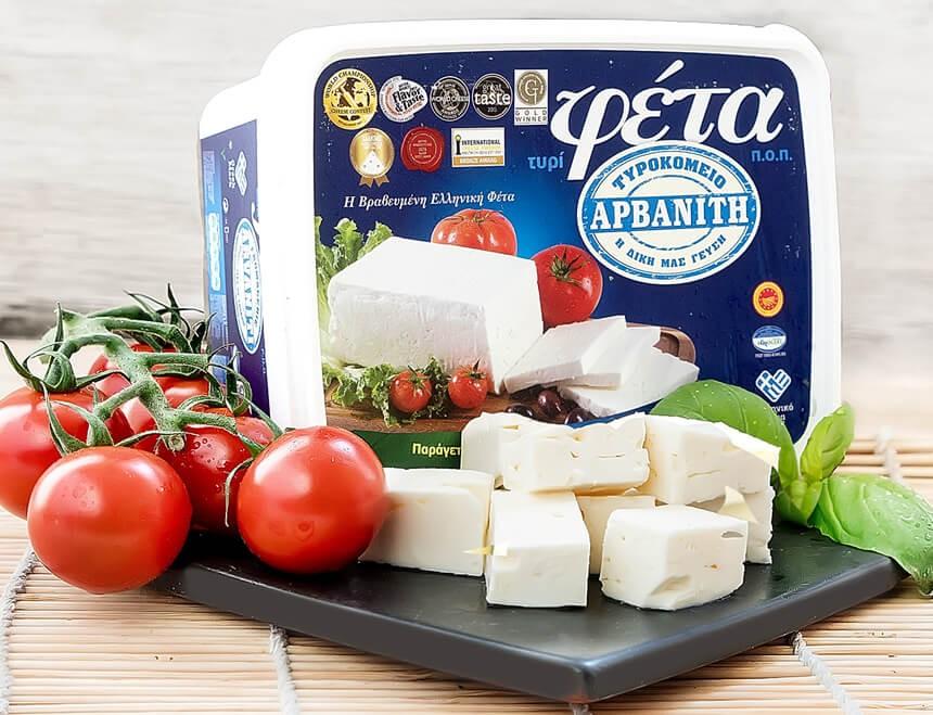 Arvaniti Feta Käse 400g Verpackung