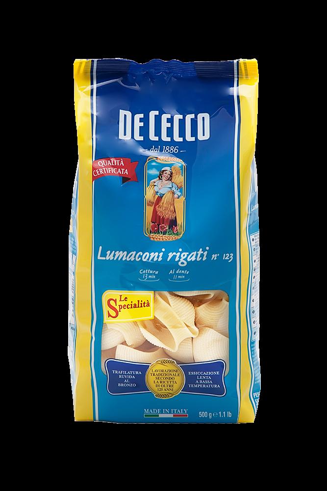 De Cecco Lumaconi Rigati Nr.123